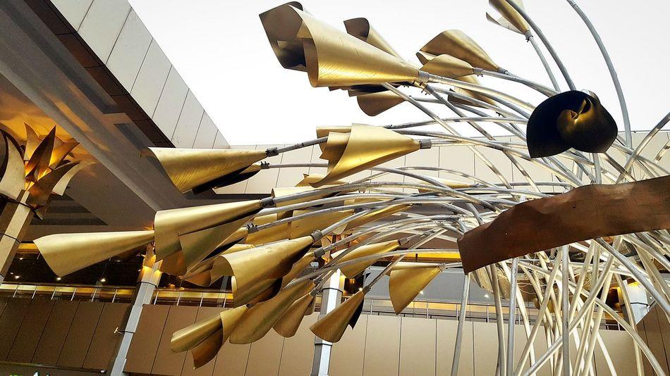 Metal Art Metal Structure Metal Work Metal Flower Metal Construction Flower Metal Open Air Open Door Outdoor Mall Winter Sky