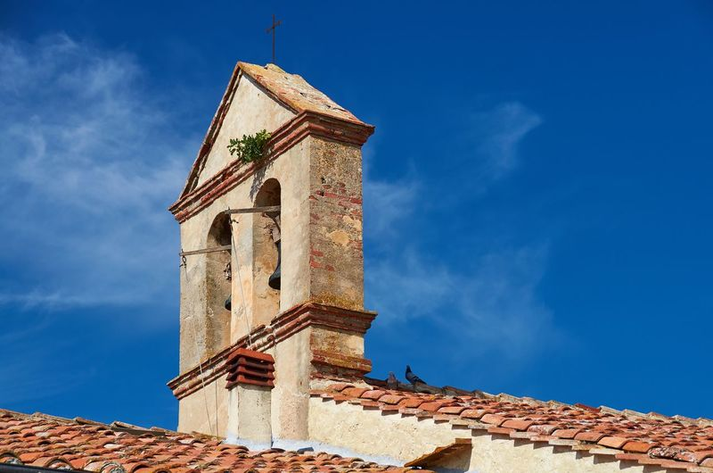 Castiglione del Lago, Umbria Italy Umbria Castiglione Del Lago Blue Sky Architecture Church Bell Bell Tower Roof Tiles Historical Building Historic Urban Built Structure Place Of Worship No People Outdoors Day