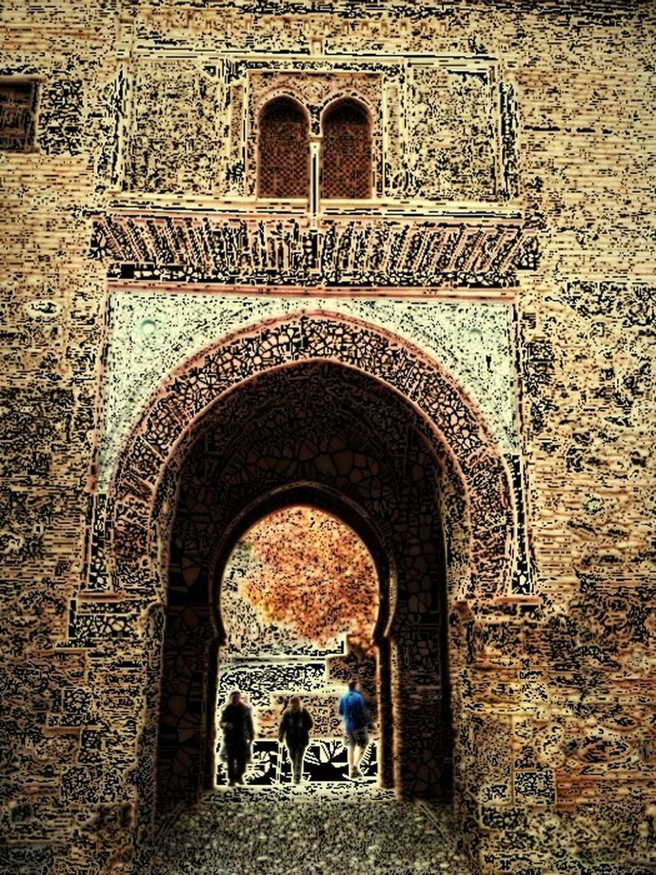 this door to the past. the history of a land. country and the people. the entrance a connection between two sides a Year of 1295 and 2015 when the Arabs had left it behind after 900 years living in Spain and it still open for every body to cross it to the past Hi! Cheese! Hello World My Edition . Street Life
