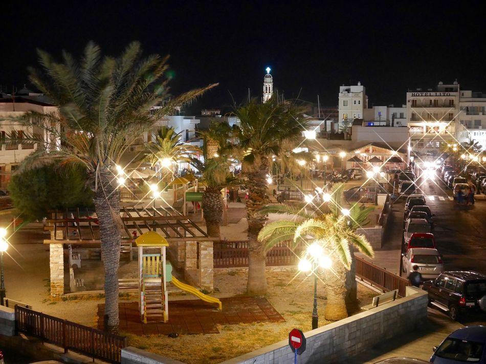 Aegean Sea Architecture City Street Greek Islands Illuminated Night Outdoors Square Street Light Tinos Greece Travel Destinations