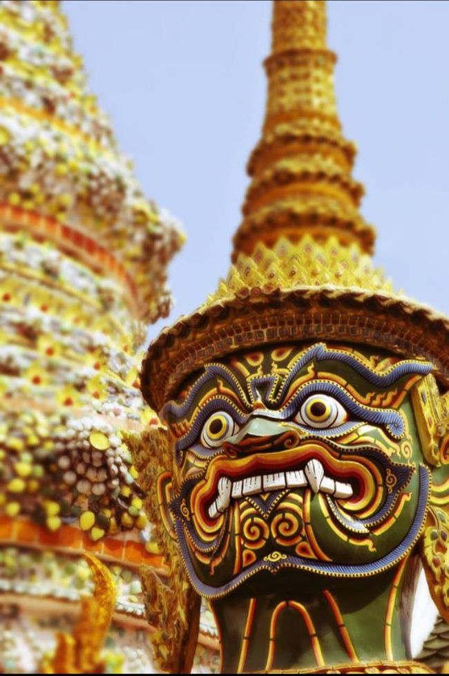 Thailand Bangkok Kingpalace Tempel Holiday