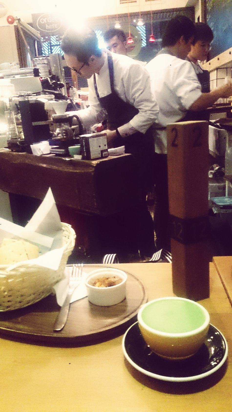 Green Tea Latte , Sandwiches
