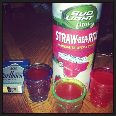 Josted Strawberita Shots LMAO Marlboro smooth