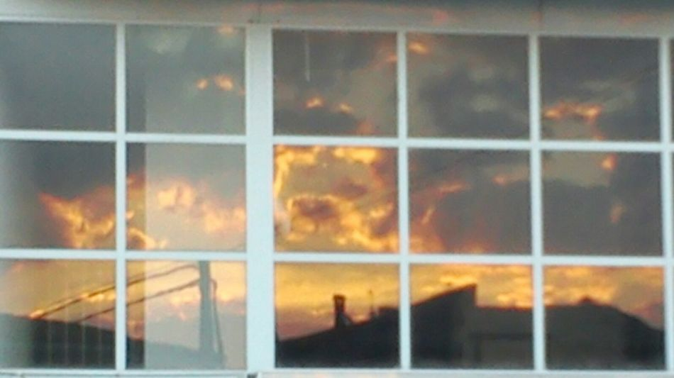 Sunset_collection Sunset #sun #clouds #skylovers #sky #nature #beautifulinnature #naturalbeauty #photography #landscape Sun Reflections In Windows