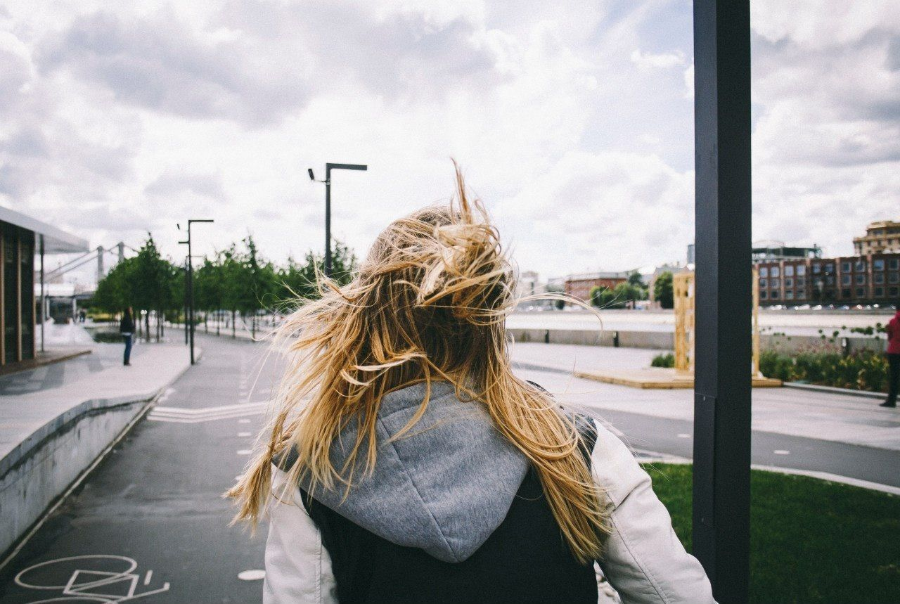 Beautiful stock photos of storm, Blonde Hair, Cloud, Day, Jacket