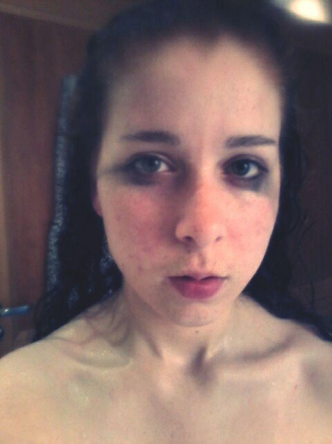 The Human Condition Depressed That's Me Self Portrait Cold Imperfection Sad Collar Bone