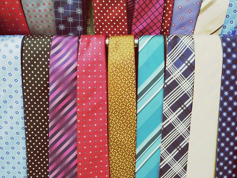 Multi Colored Full Frame Indoors  No People Textile Backgrounds Day Close-up Tie Man Wear Accesories Fashion Selection Choices Colorful Design Pattern Colors Are Everywhere