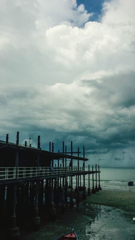 Got to Hua Hin just in time to witness the end of the goddamn world it appears... Thailand Southern Thailand Clouds ASIA Outdoors Southeast Asia Cloud Gulf Of Thailand Sky Afternoon Water Ocean Storm Cloud Storm Pier