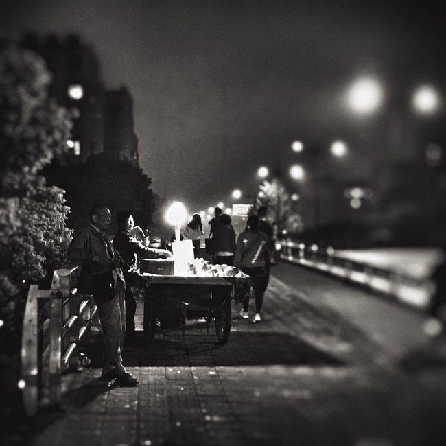 Night Men Taking Photos IPhone Peace And Quiet
