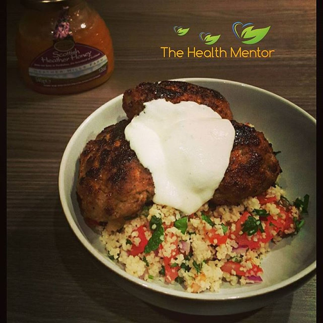 Lamb Kofta with Healther Scottish Honey. Healthy recipes will be available soon on my website. You can get the honey from www.heatherhills.co.uk Next week, I'm going to make a Spicy Lamb Kofta. Can't wait... keep a l👀k out... Scottishheatherhoney Lambkofta Healthy Healthychoices Happyandhealthy Bulgarwheat Yummy Homemade Homemadefood Delicious Healthyfood Healtherhillsfarm