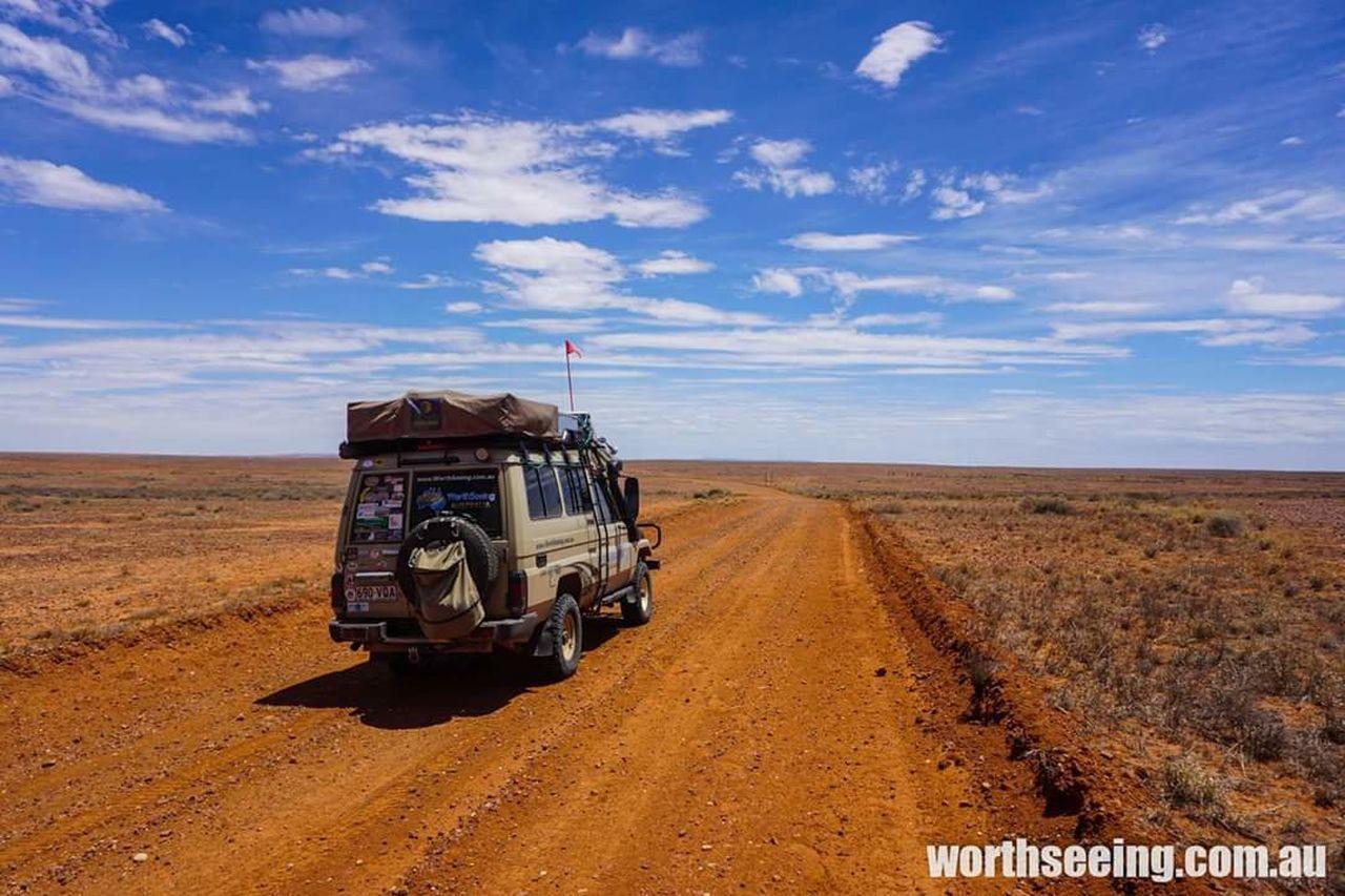 Australia - strzelecki track Outdoors Nature Landscape 4wd Desert Sand Blue Travel Cloud - Sky Beauty In Nature No People Sand Dune