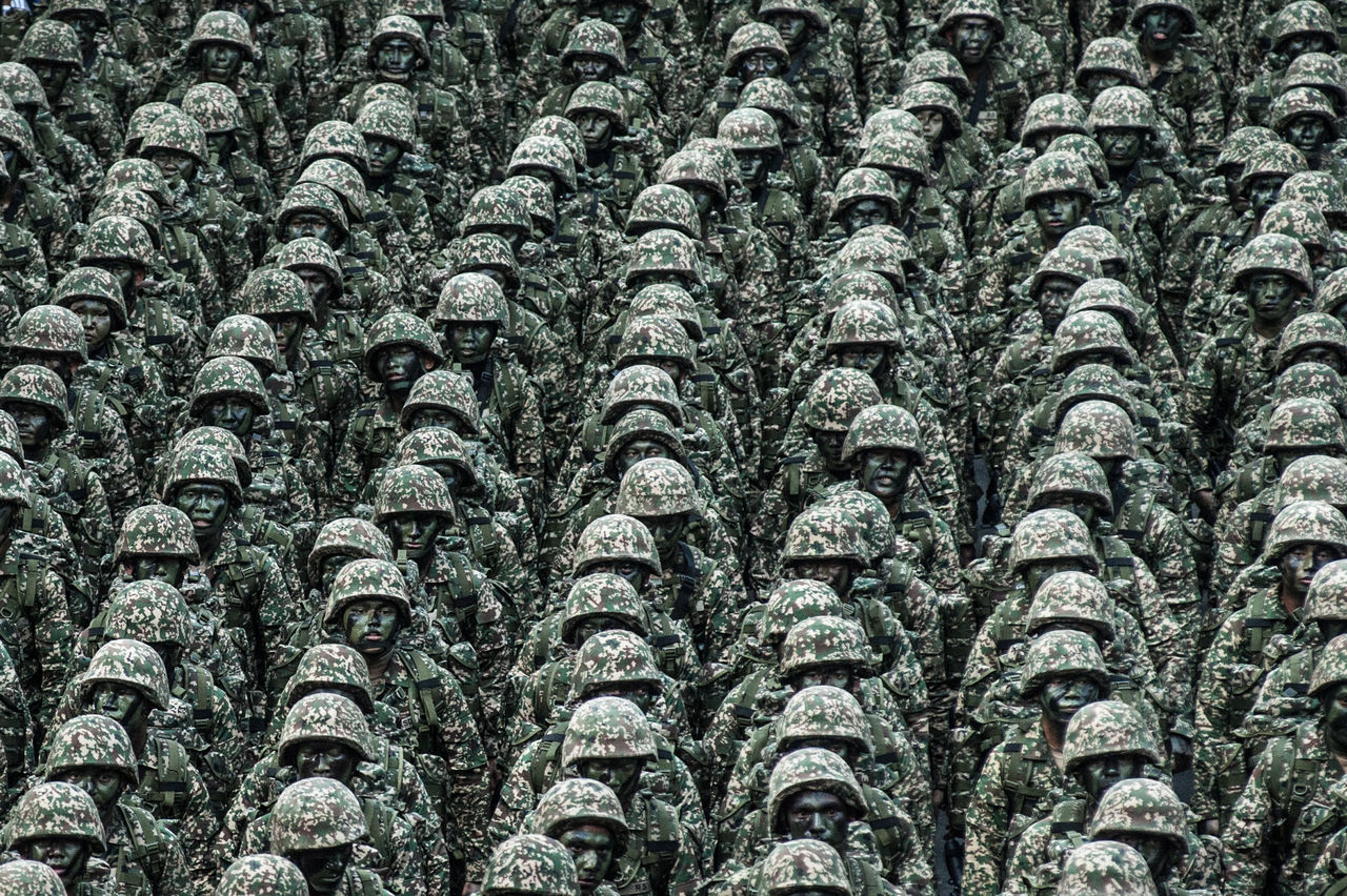 Abundance Army Army Life Backgrounds Close-up Day Full Frame Large Group Of Objects Outdoors Soldiers The Photojournalist - 2017 EyeEm Awards