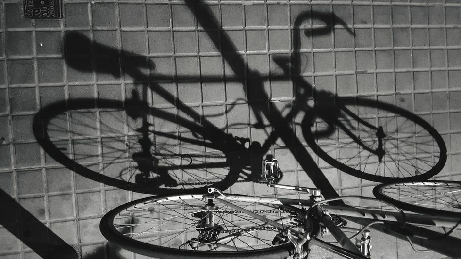 Bicycle Transportation Land Vehicle Mode Of Transport High Angle View No People Outdoors Bicycle Rack Sports Shadow Shadows & Lights Shadows Shadow And Light Shadowplay Silhouette Blackandwhite Black & White Black And White Barcelona Barcelona, Spain Street Streetphotography Street Photography Streetphoto_bw Bike