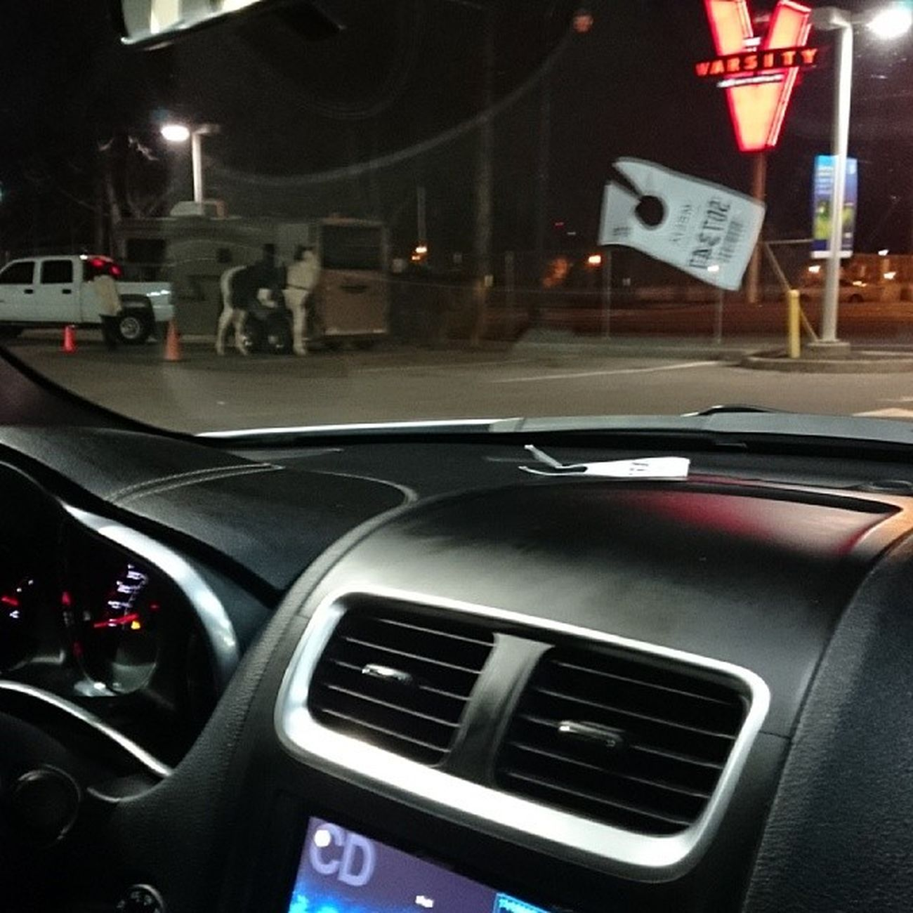 Pull up n it's whole horses chilling at the gas station AtlantaNights