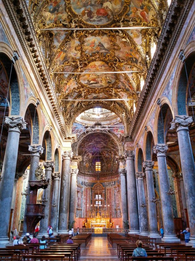 Chiesa Di San Giuseppe Dei Teatini Palermo Sicily Italy Travel Photography Travel Voyage Traveling Mobile Photography Fine Art Baroque Architecture Churches Central Naves And Apses Decorated Vaults Extraordinary Decorations Magnificent Stunning Colours