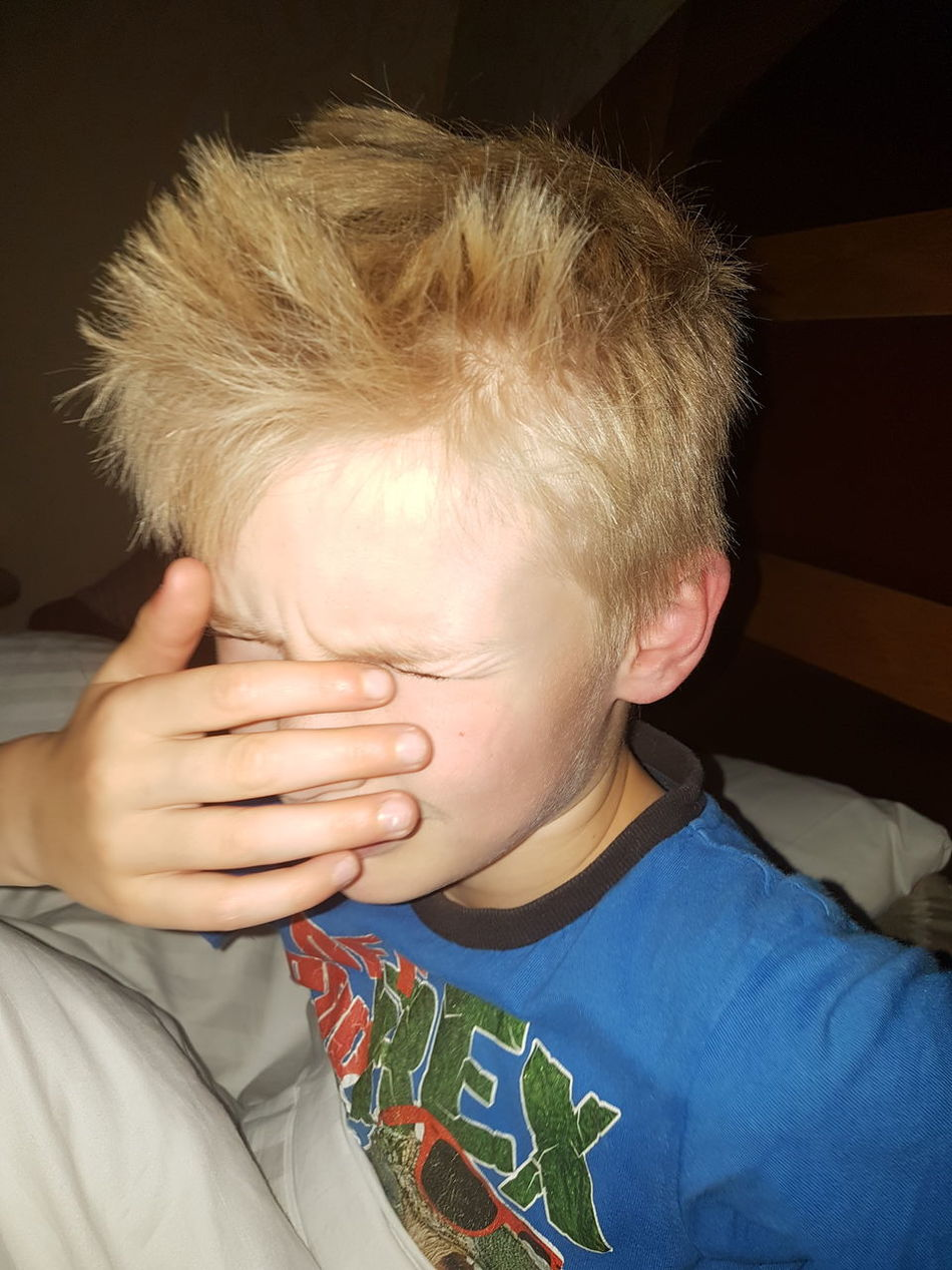 Child Males  Headshot One Person One Boy Only Portrait Front View Close-up Indoors  Just Woke Up Bed Head Bed Hair Morning Too Early Too Early For School Sleepy