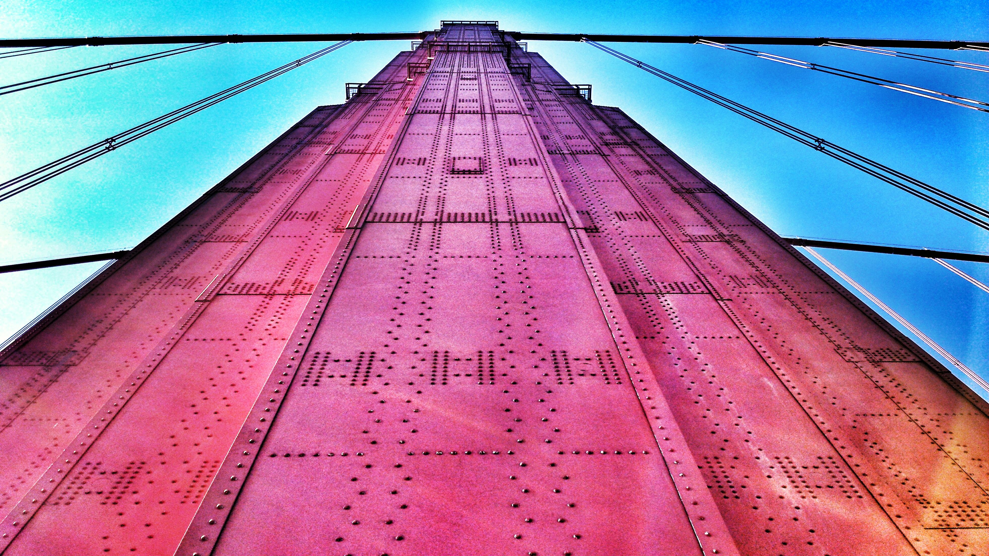 Golden Gate Bridge Lookingup Made Of Steel
