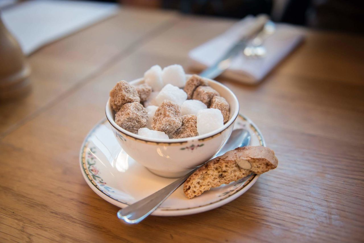 Food Healthy Eating Homemade Kitchen Table No People Close-up Indoors  Comfort Food Ready-to-eat Sugar TeaCup Spoon Woodtable