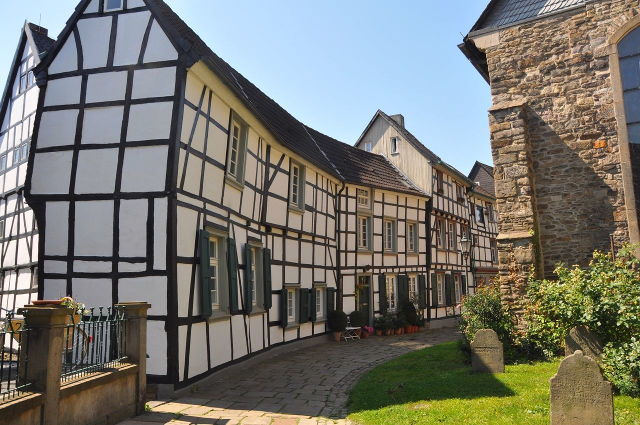 Generic Architecture Germany Half-timbered Houses Architecture Built Structure Building Exterior Day Outdoors Clear Sky No People Sky
