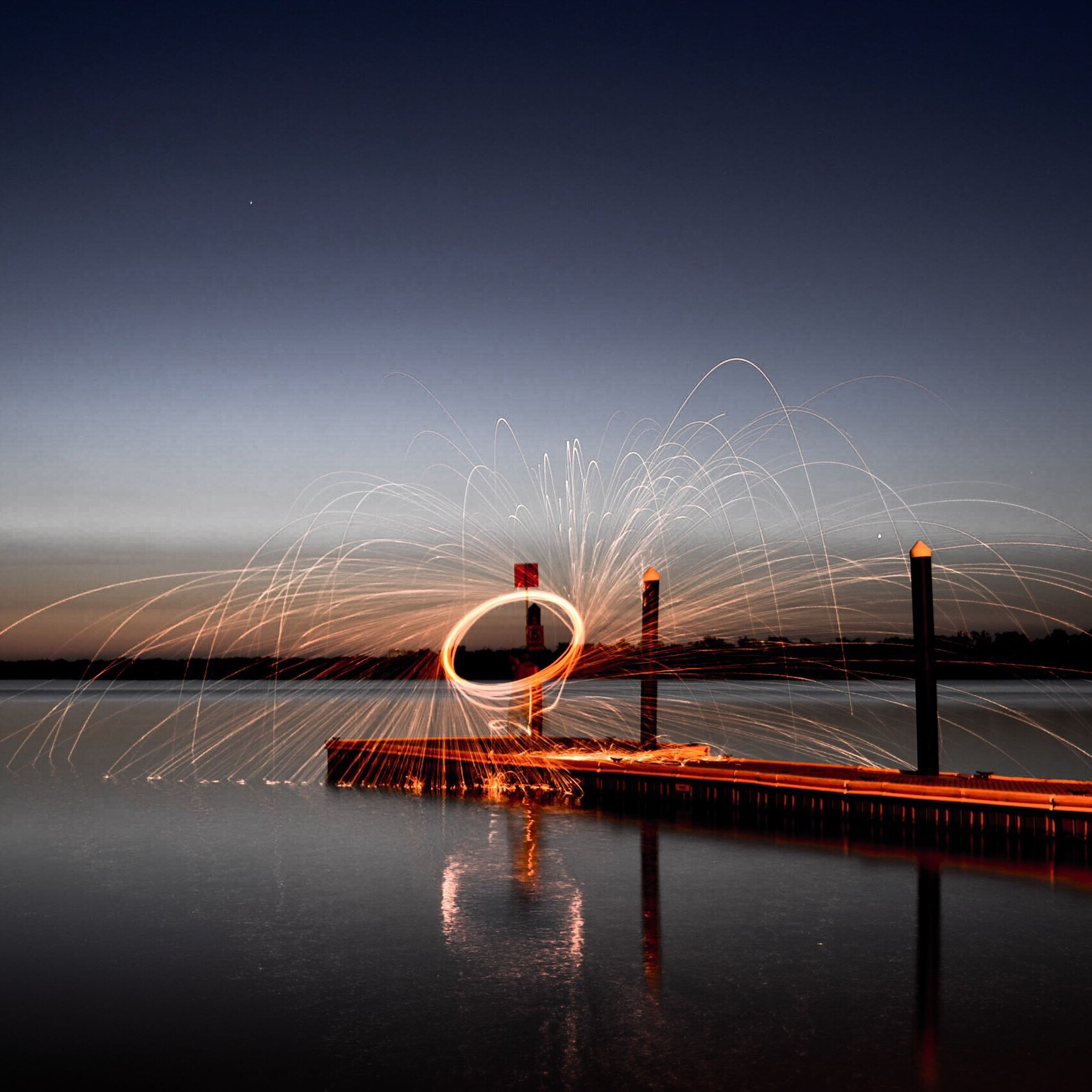 transportation, water, illuminated, connection, night, bridge - man made structure, waterfront, clear sky, built structure, river, sky, copy space, engineering, bridge, architecture, suspension bridge, sea, mode of transport, reflection, outdoors