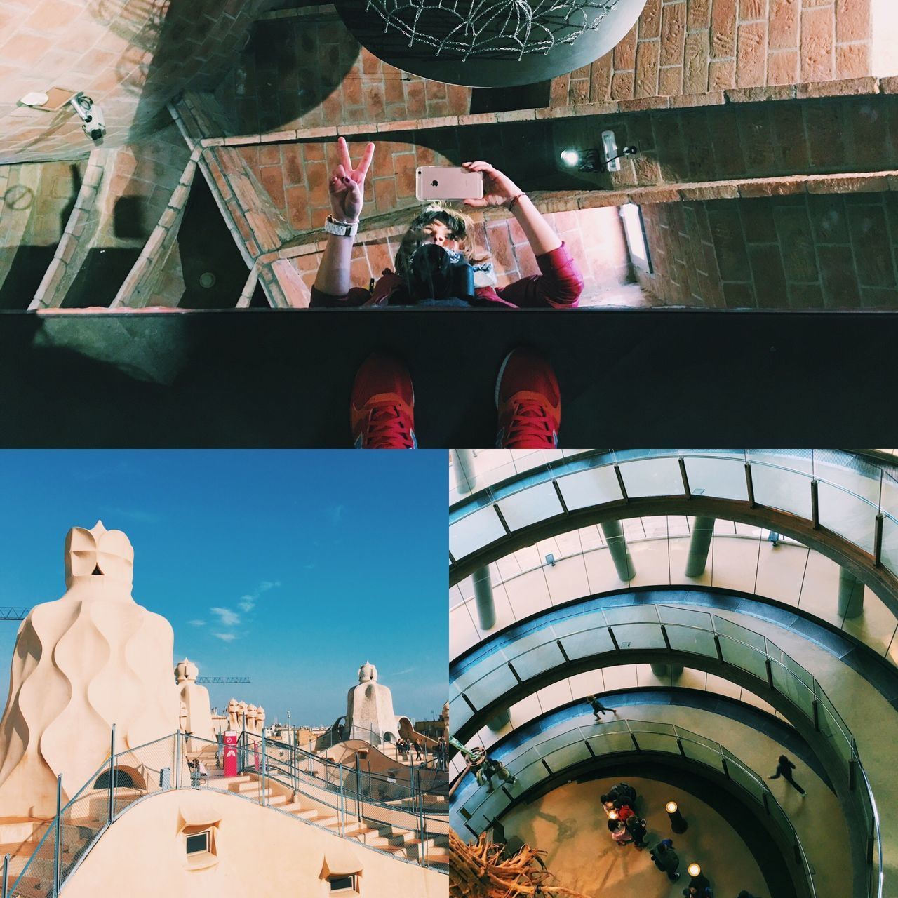 Day 4 of #mysecondsolotrip was almost perfect! Today was my B'Day, so I put a selfie there just because! 😊 In the morning I was at CosmoCaixa, a museum for kids all ages 😌 It was fun to make some photos there, but I wouldn't recommend it to visit it if you're traveling alone. 😉 Yesterday I really wanted to go to La Pedrera at sunset, but weather was not in my favor, so I went today at noon! I choose to revisit this house because that roof fascinates me! Last time I also visited Casa Batlo and I loved the interior from there. I suggest you to visit both of them, I promise you won't regret it! I just relaxed a little bit on the roof of La Pedrera, prepping myself for some shopping time! Yes, sales are all around Barcelona and I couldn't resist to visit some shops! Shopping, ice cream, paella and Sangria really help when you're getting older! 😂 Europe SPAIN Catalunya BCNfoto Barcelona Traveler Travel Mysolotrips Traveljournal Travelalone Europeantrip Wanderlust
