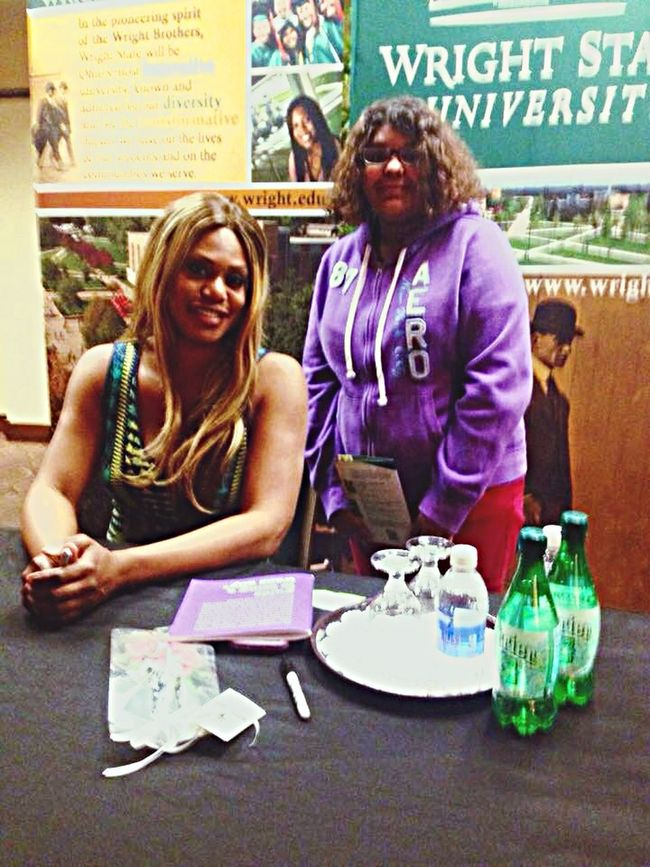 She was so gracious! Wright State University Laverne Cox Oitnb Belle