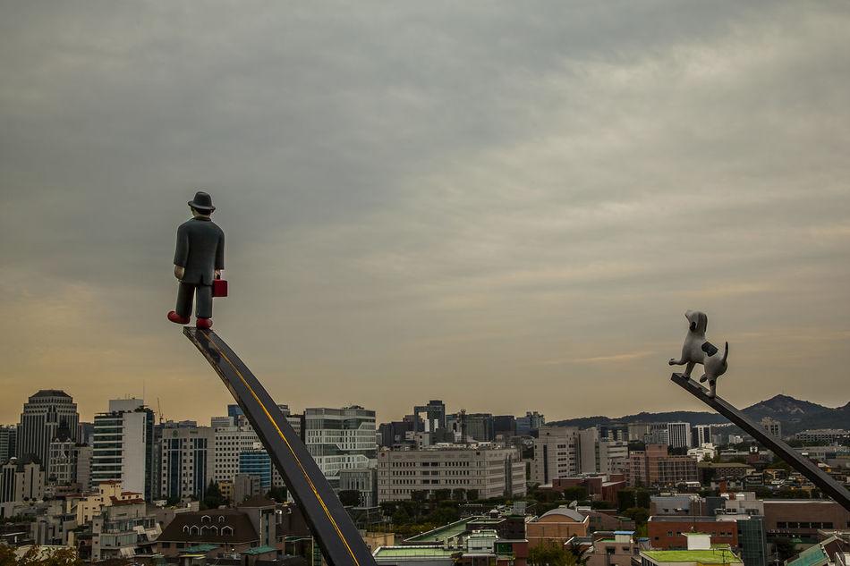 Naksan Park Gentleman And Dog Cloudy Haewhadong Seoul Korea