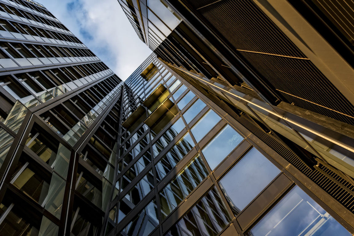 dancing towers Architecture Building Exterior Built Structure City Cloud - Sky Day Germany Hamburg Altona Low Angle View Modern Modern Architecture No People Office Building Exterior Outdoors Reeperbahn  Sky Skyscraper Teherani Building