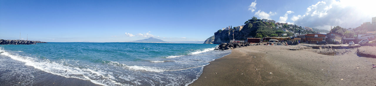 Amalfi Coast Beauty In Nature Blue Blue Sea And Clear Water Day Idyllic Italian Impressions Nature No People Outdoors Scenics Sea Sky Sunlight Tranquil Scene Tranquility Travel Destinations Vesuvio Water