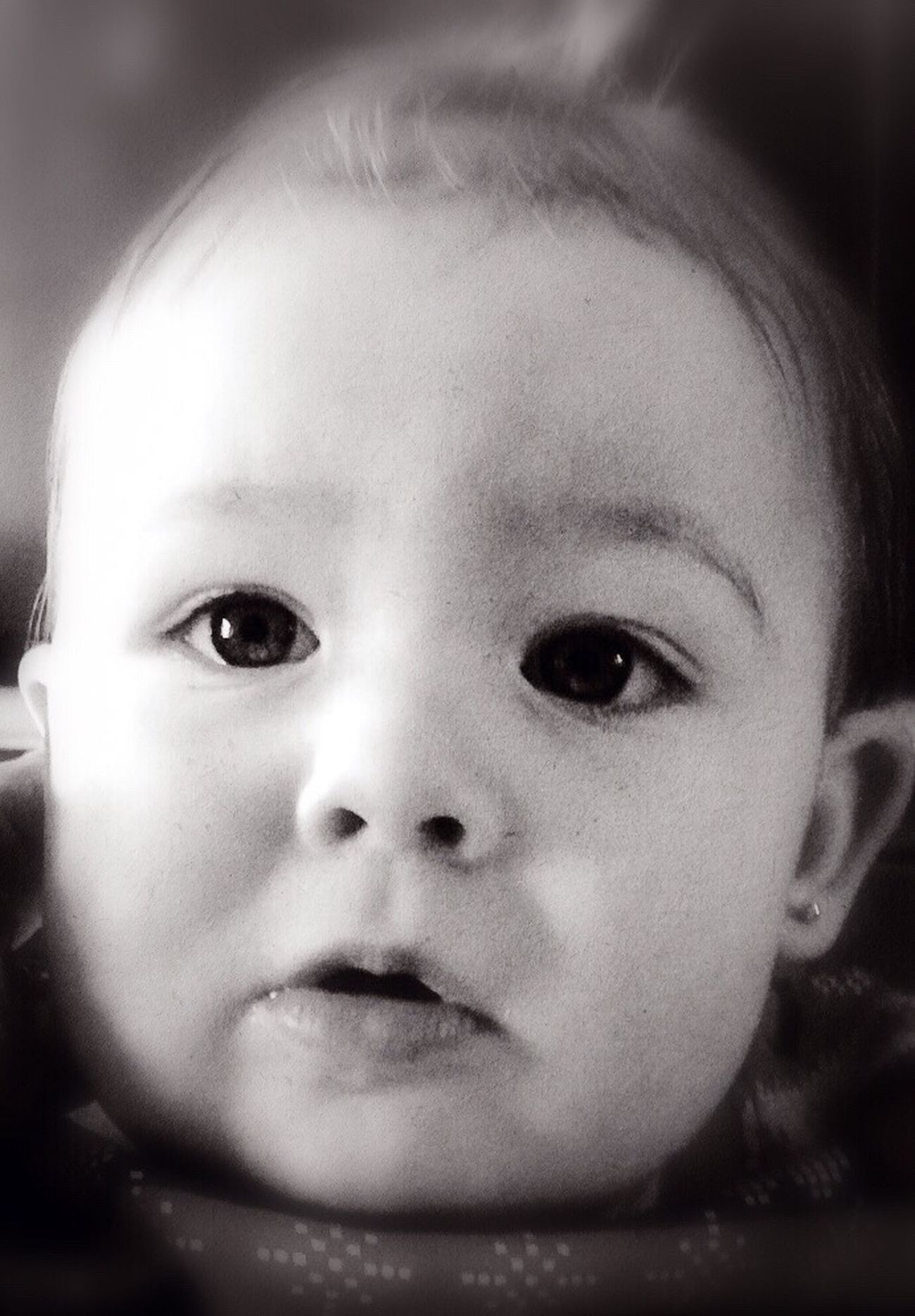 Cori Previous Photo Camerafilters Editedbyme Childhood Innocence Cute Looking At Camera Portrait Close-up Baby Babyhood Real People Human Face One Person Headshot Front View Indoors  Human Eye Day People IPhoneography