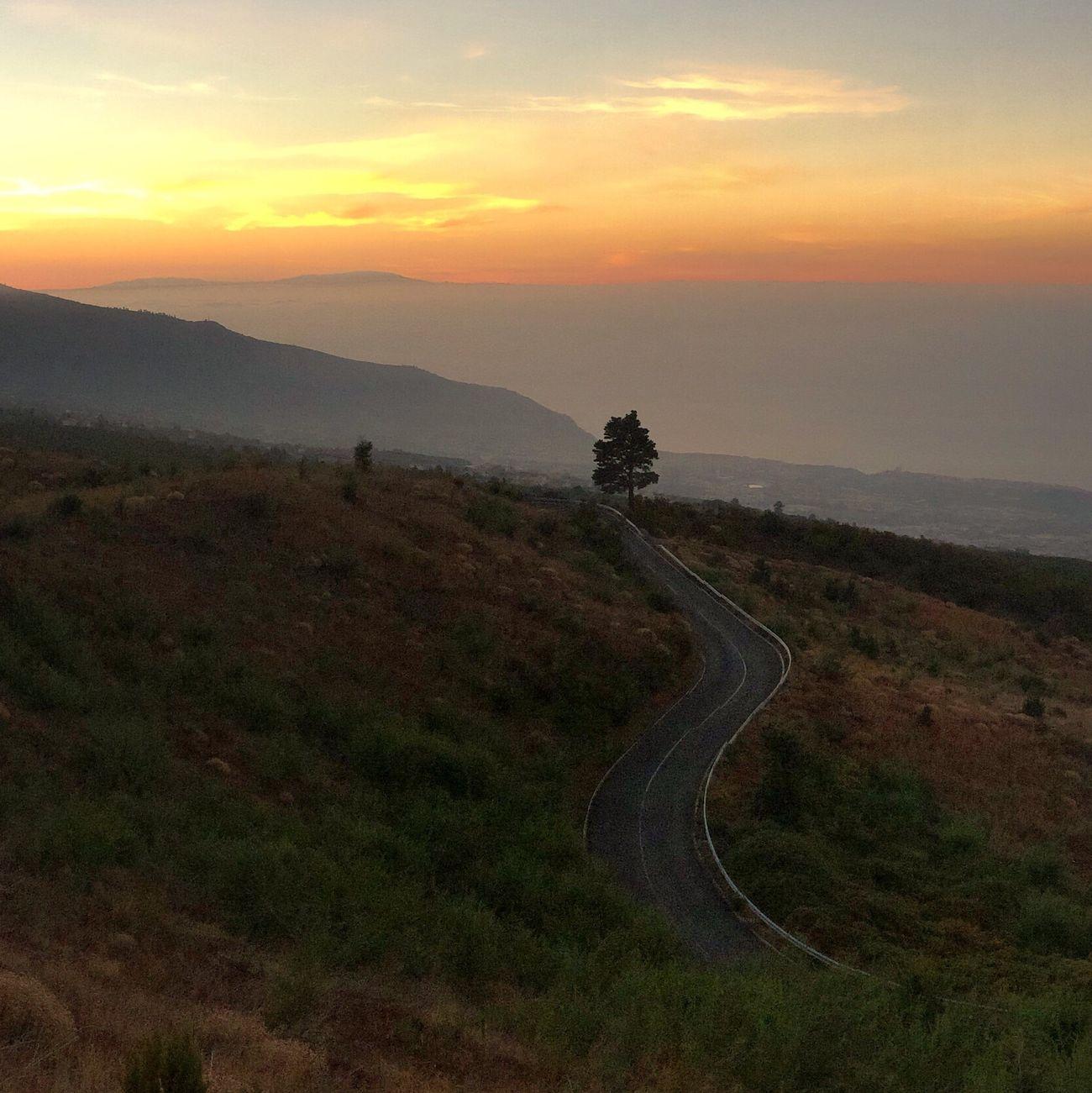 Sunset Landscape Tenerife Canary Islands Teneriffa Islas Canarias