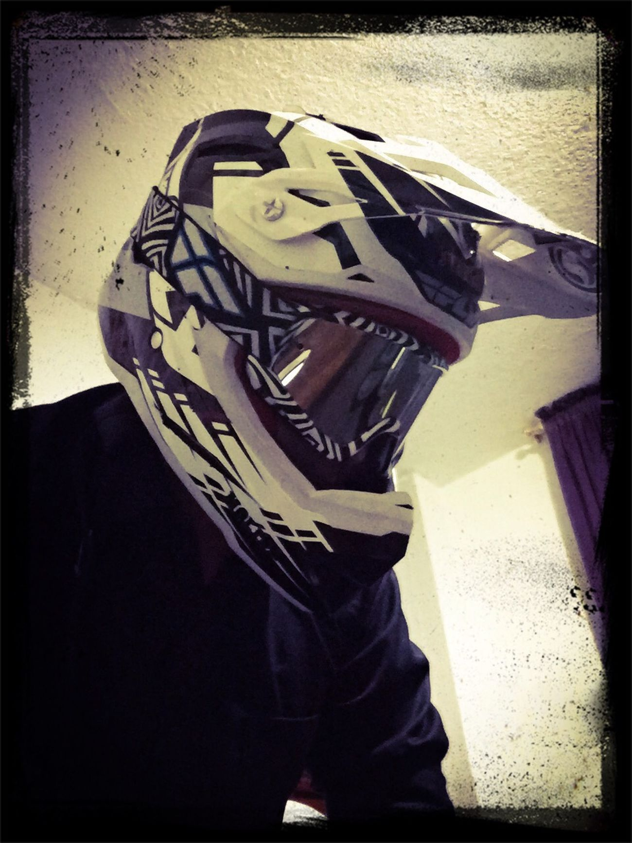 RIde or die!! mMotocrossmMotorcycle Helmet