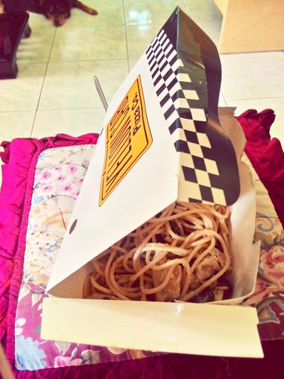 A Yellow Morning with Chicken Alfredo and a cup of Chocolate Milk Drink to wake me up this late morning. ☕🍝🌞 Chicken Alfredo Morning Yellow Cab Pizza Co.