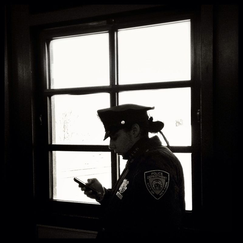 streetphotography blackandwhite NYPD streetphoto_bw by Brooklyn  Theory