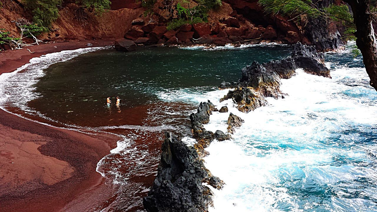 The Red Sand Beach in Kaihalulu Bay Red Beachphotography OpenEdit EyeEm Best Shots - Nature EyeEm Nature Lover Eye4photography  IPhoneography Taking Photos