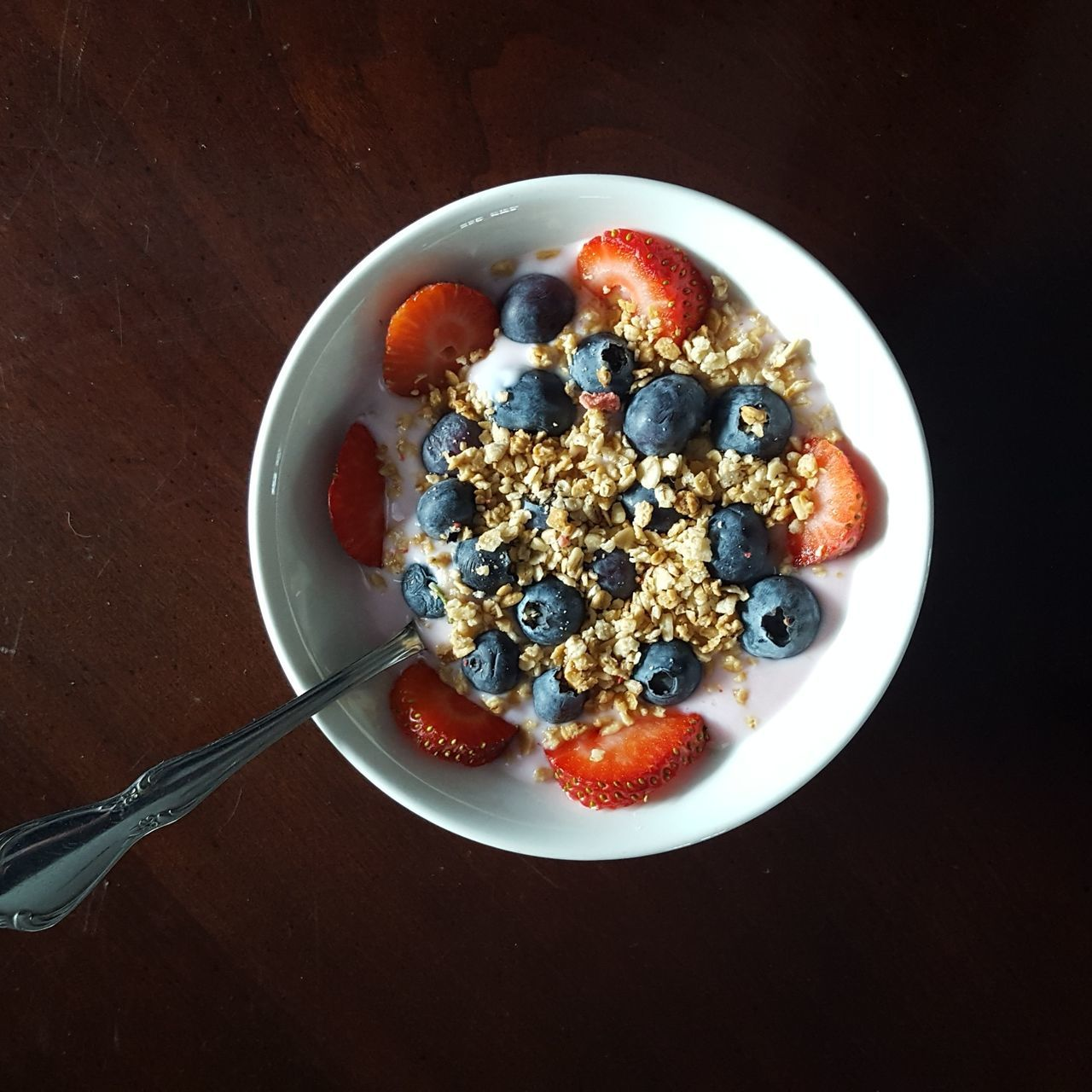 Directly Above Shot Of Breakfast Cereal On Table