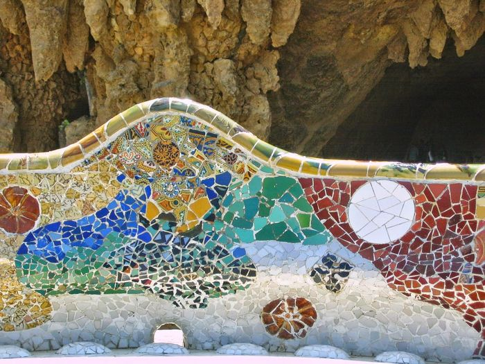 Barcelona, Spain Day Gaudy Mosaic Art Multi Colored Nature No People Outdoors Park Guel
