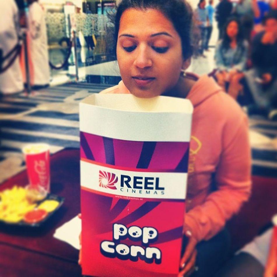 Paulapinto Reelcinemas Popcorn Largerthanlife dubaimall @bharathpinto @sashamnoronha