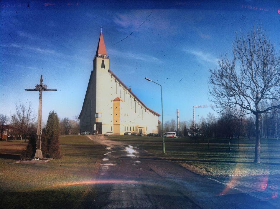 Lietuva Lithuania Naujoji Akmene Church