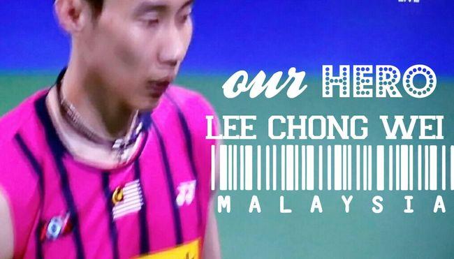 That'shimour hero :) Amazing Spirit Gambateh lee chong wei #inpink?