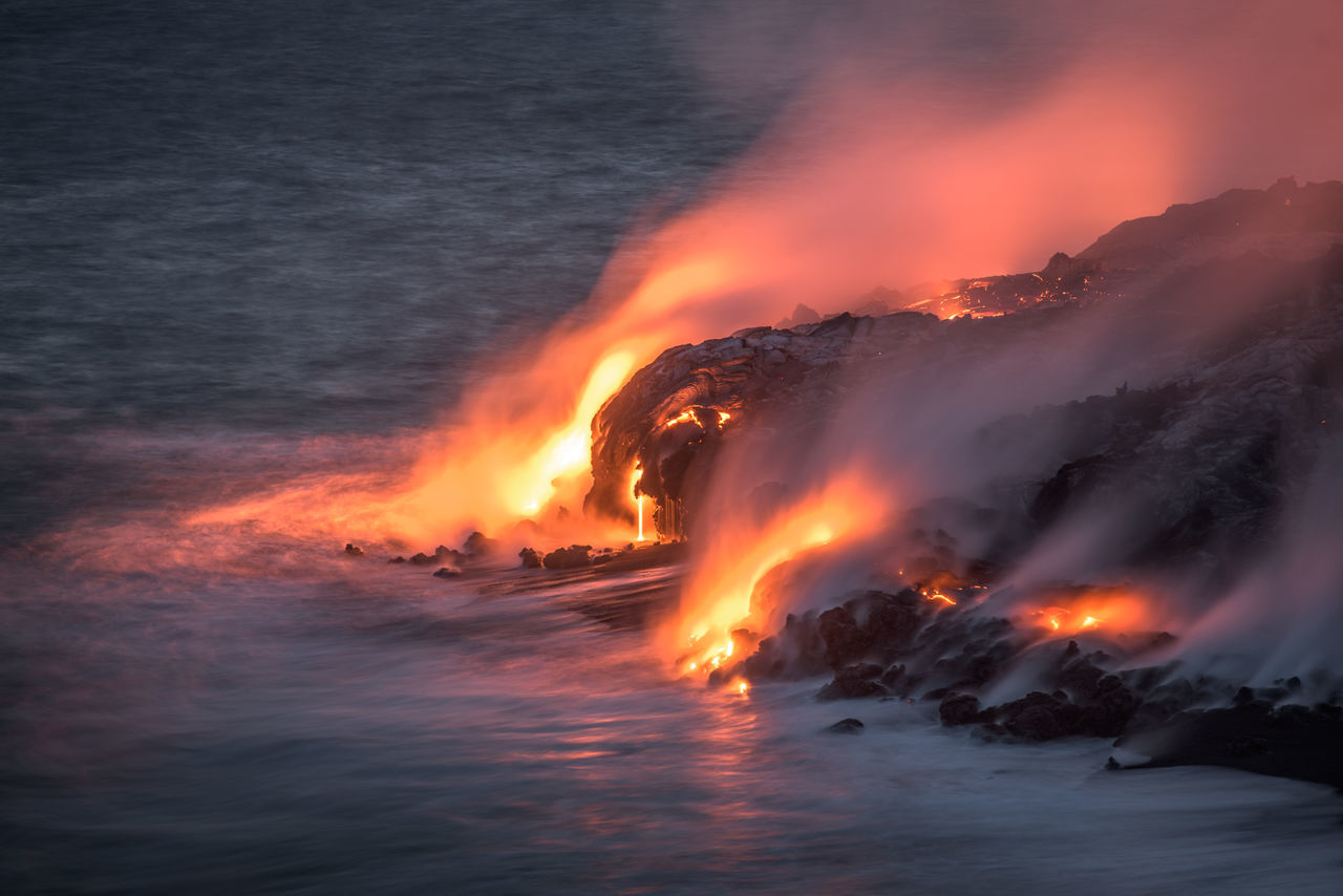 Beautiful stock photos of feuer, Active Volcano, Awe, Big Island - Hawaii Islands, Danger