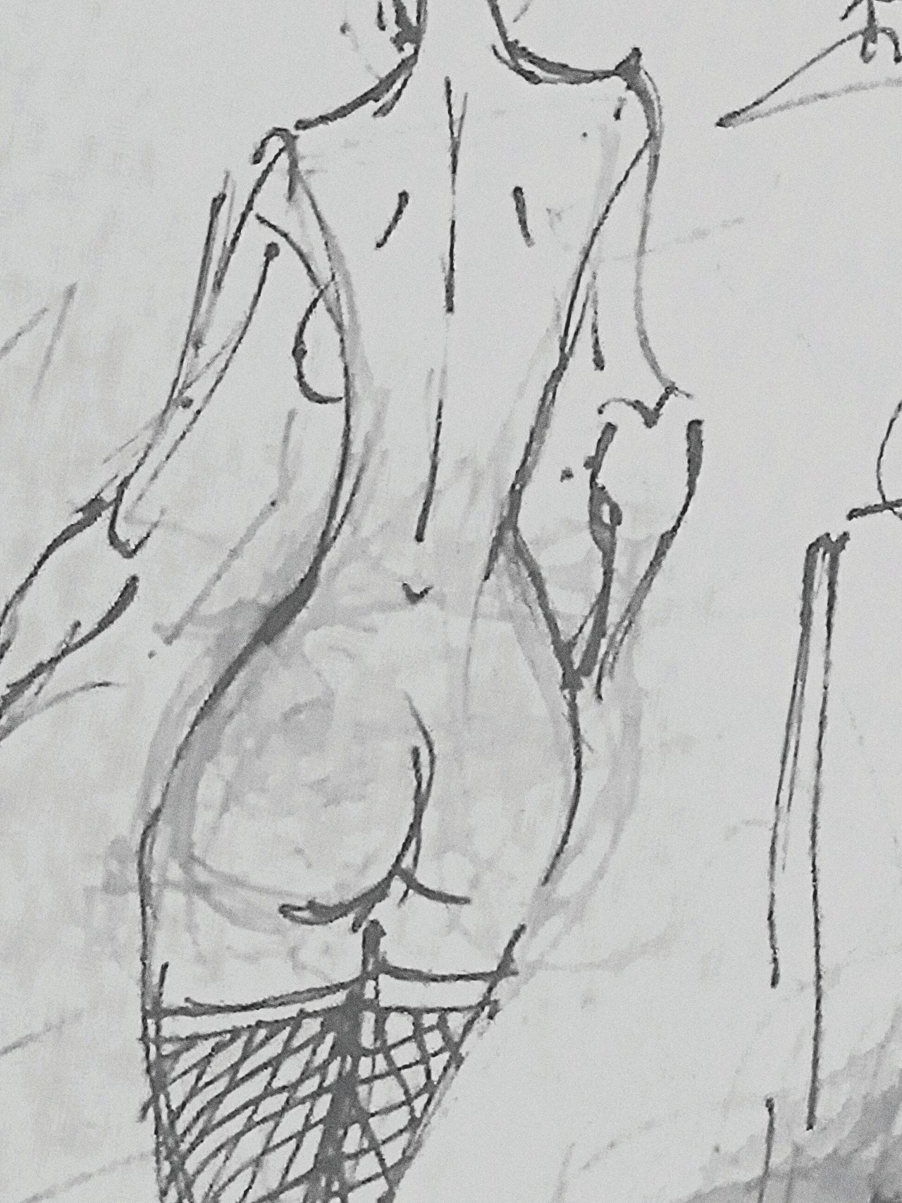 drawing, Close-up Abstract Human Figure