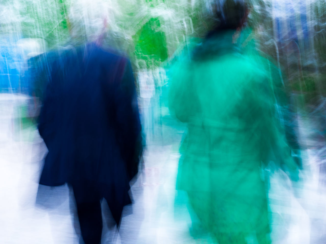Abstract Adult Blue And Green Blurred Blurred Motion Blurred Movement City City Life Day Experimental Experimental Photography EyeEmNewHere France Lifestyles Montmartre Motion Paris Paris, France  People Real People Unrecognizable Person Walking