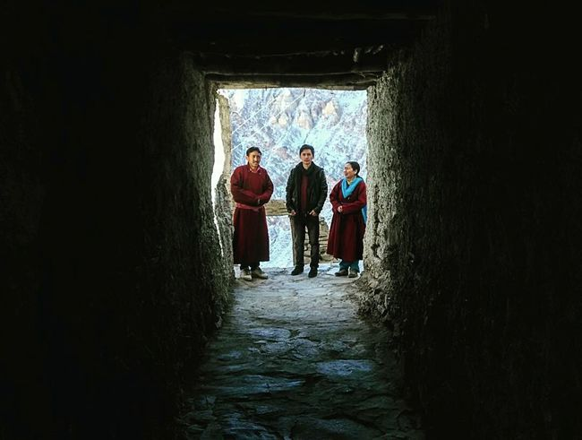 Time With Family 😀 Parents ❤❤❤ People Parents Front View Leh Leh Ladakh Ladakhdiaries Ladakhi Dress Traditional Costume Snow Outdoors Eyemphotography EyeEm Best Shots EyeEmBestPics Eyem Gallery Redmi1s Landscape Scenics Lamayuru Monastery Corridor Three People