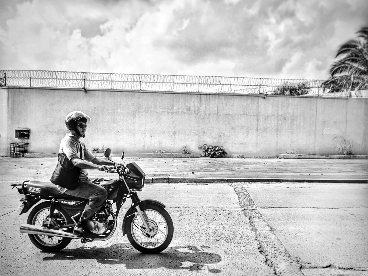 The Motorist Motorcycle Motorbike Black And White Black And White Photography Mobile Photography Monochrome Light And Shadow Eyeem Collection Eyeem Philippines Showcase July Showcase July 2016 Philippines
