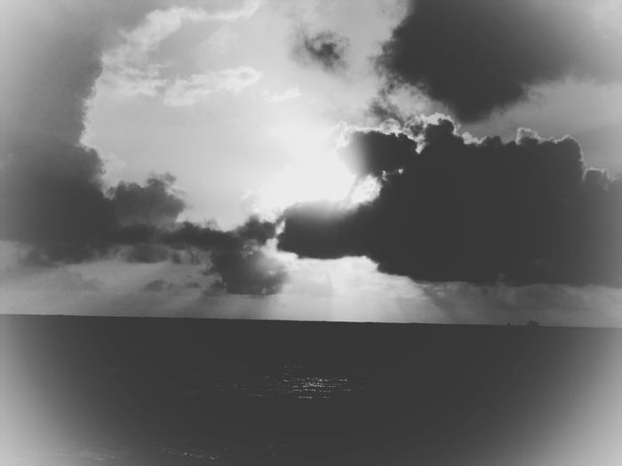 Storm Weather Cloud - Sky Rain Overcast Water Nature Dramatic Sky Outdoors Day No People Dramatic Sky Beauty In Nature Black And White Photography Clouds Playing With Filters Playing With Effects Kauai Lydgate Beach