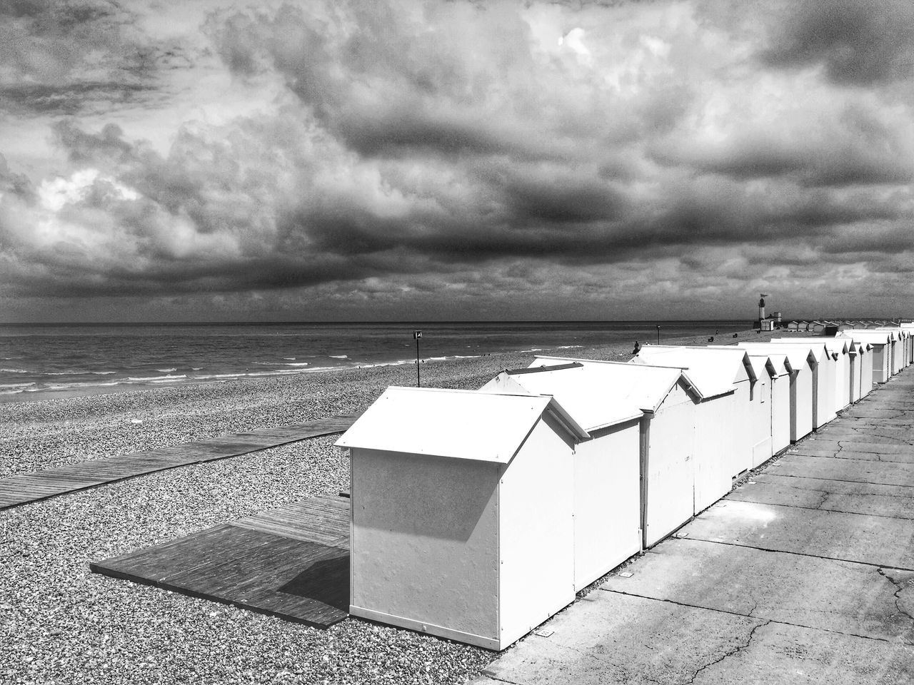 Sea Cloud - Sky Beach Horizon Over Water Tranquility No People A Place To Be Blackandwhite France AMPt_community Nature