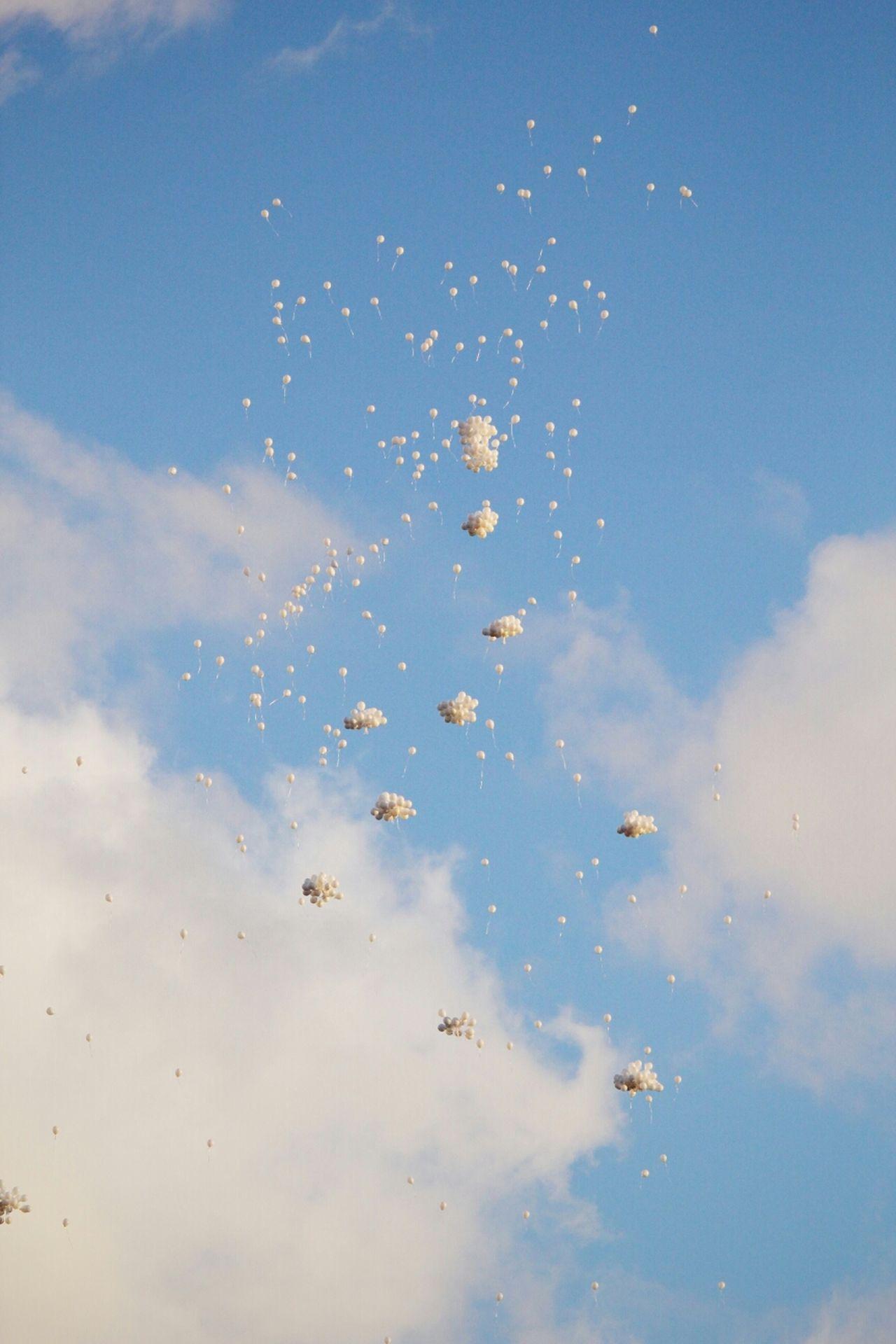Balloons Sky Clouds Canon