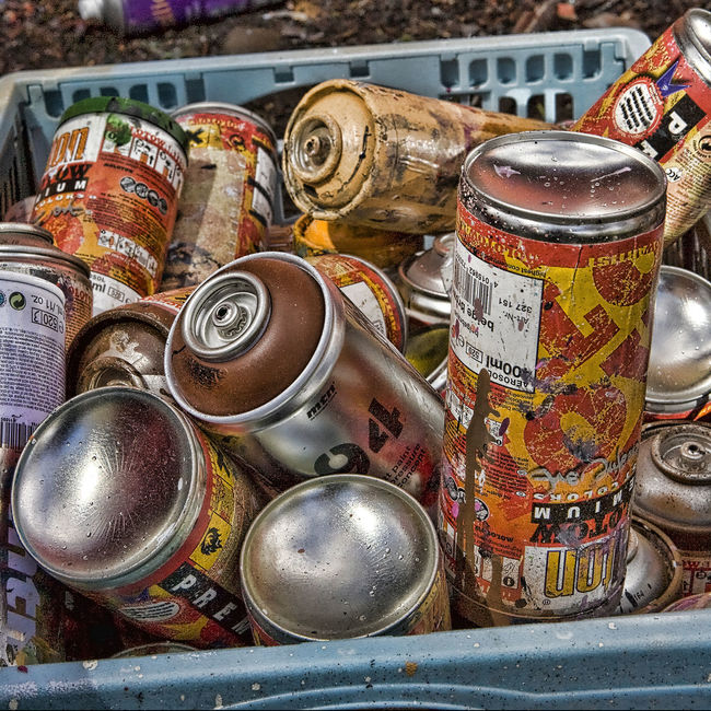 Aerosol Basket Choice Close-up Collection Container Graffiti Heap No People Paint Cans Spray Paint Spraypaint Variation
