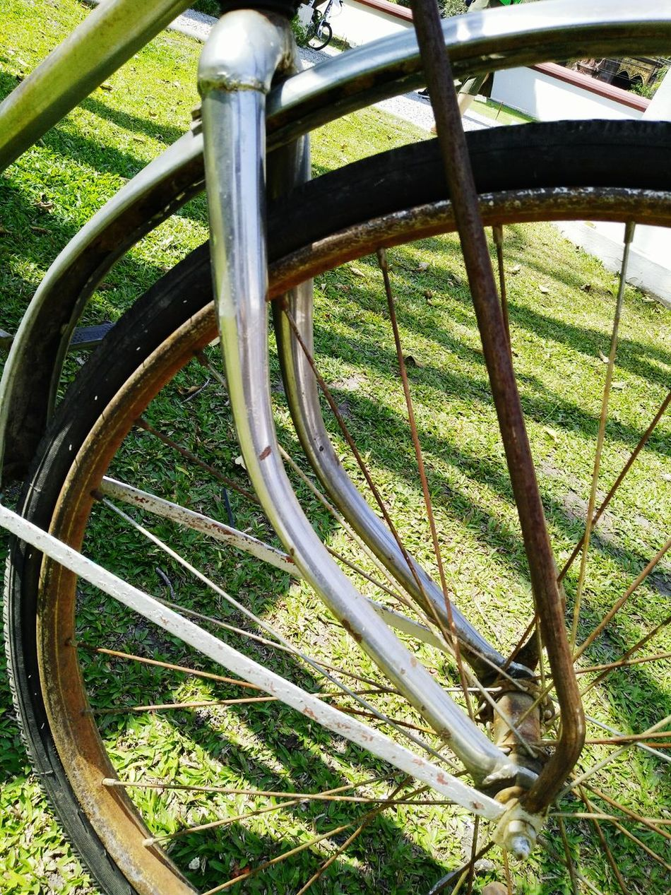Metal Outdoors No People Wheel Bicycle Wheel classic steel iron beauty Thailand chiang mai